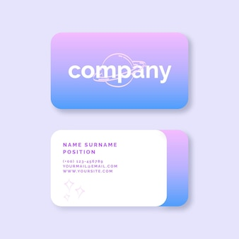 Modelo de cartão de gradiente pastel Vetor grátis