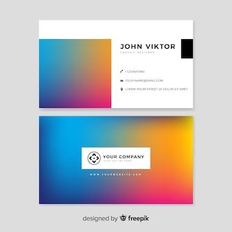 Modelo de cartão de gradiente