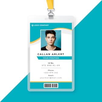 Modelo de cartão de identidade comercial