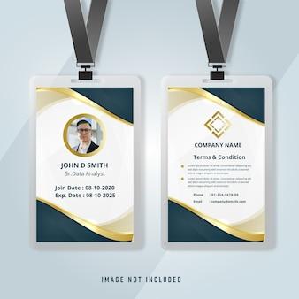 Modelo de cartão de identidade corporativo elegante