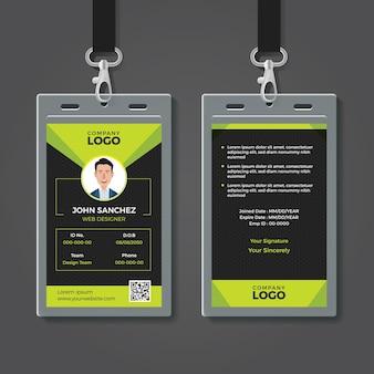 Modelo de cartão de identidade criativa