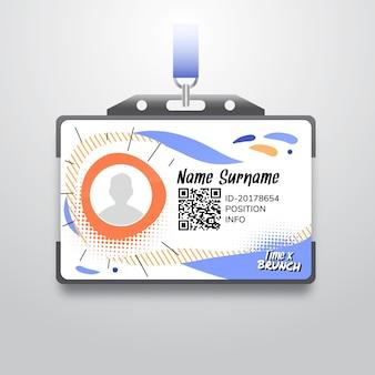 Modelo de cartão de identidade de brunch
