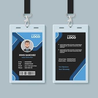Modelo de cartão de identidade de escritório corporativo