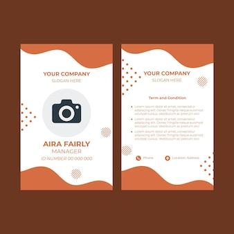 Modelo de cartão de identidade para confeitaria