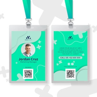 Modelo de cartão de identificação comercial de marketing