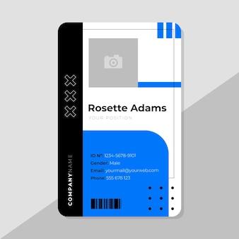 Modelo de cartão de identificação comercial