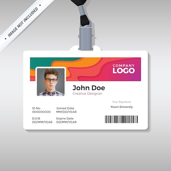 Modelo de cartão de identificação criativo
