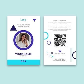 Modelo de cartão de identificação de agência de marketing