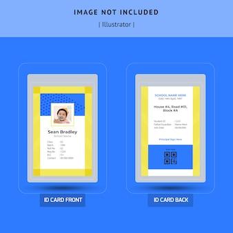Modelo de cartão de identificação de amostra vector design
