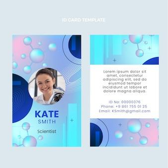 Modelo de cartão de identificação de ciência gradiente