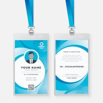 Modelo de cartão de identificação de designer gráfico