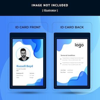 Modelo de cartão de identificação de negócios