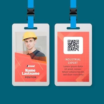 Modelo de cartão de identificação de serviço de eletricista Vetor grátis