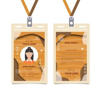 Modelo de cartão de identificação de venda de pão