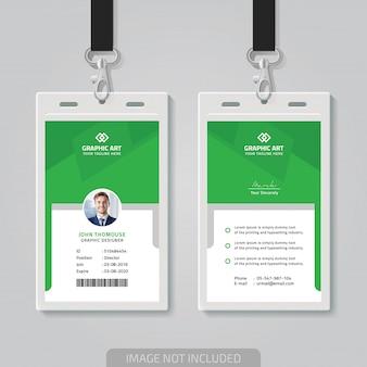 Modelo de cartão de identificação do office