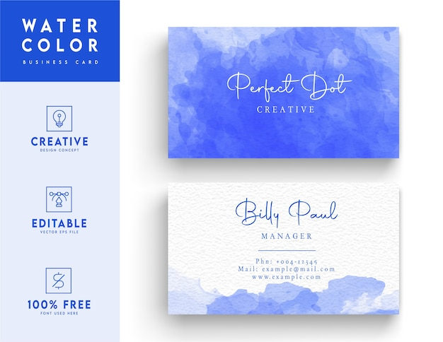 Modelo de cartão de identificação em azul profundo e abstrato