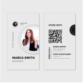 Modelo de cartão de identificação geral de negócios