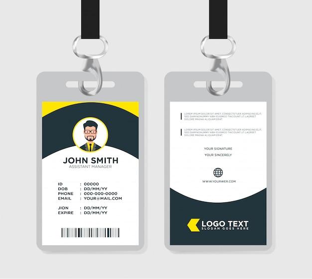 Modelo de cartão de identificação mínima