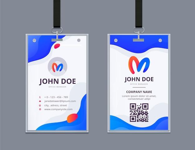 Modelo de cartão de identificação mínimo