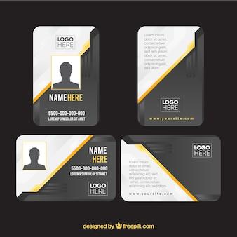 Modelo de cartão de identificação