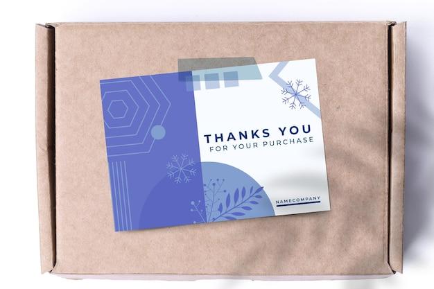 Modelo de cartão de inverno de cor única geométrica