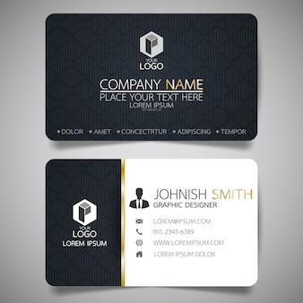 Modelo de cartão de layout preto.