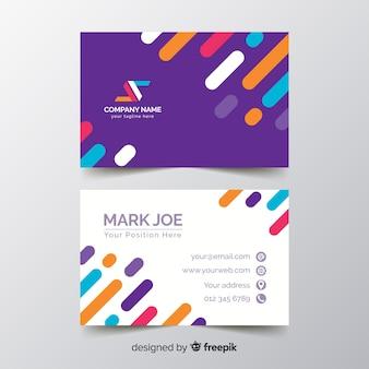 Modelo de cartão de linhas de negócios chiques