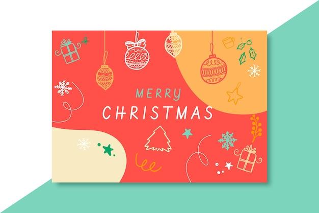 Modelo de cartão de natal festivo