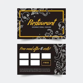 Modelo de cartão de negócio de restaurante