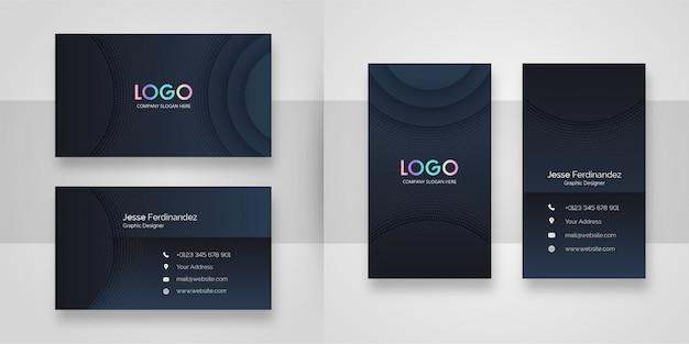 Modelo de cartão de negócios à moda abstrato da cor escura