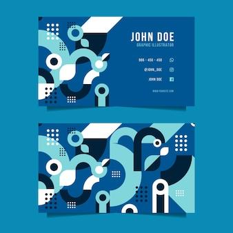 Modelo de cartão de negócios abstrato azul clássico