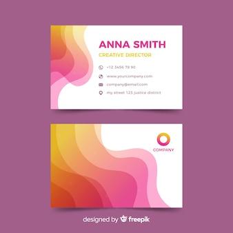 Modelo de cartão de negócios abstrato roxo