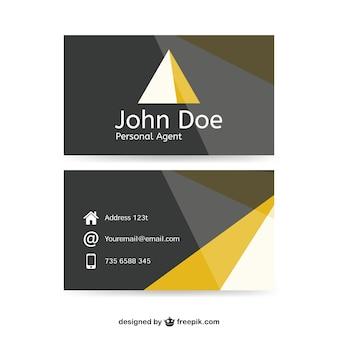 Modelo de cartão de negócios abstrato