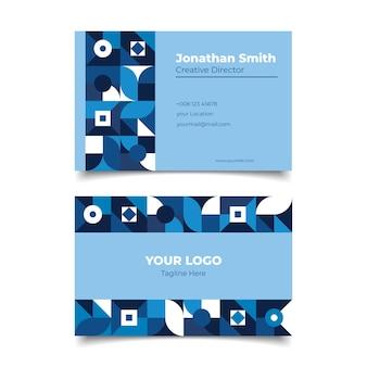 Modelo de cartão de negócios azul clássico corporativo