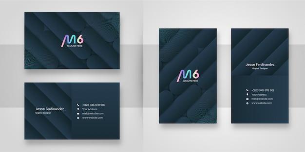 Modelo de cartão de negócios - cinza escuro moderno