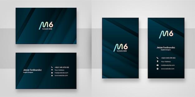 Modelo de cartão de negócios - cinza esverdeado abstrato
