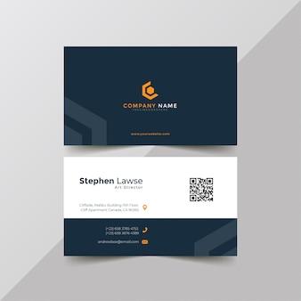 Modelo de cartão de negócios corporativo azul elegante