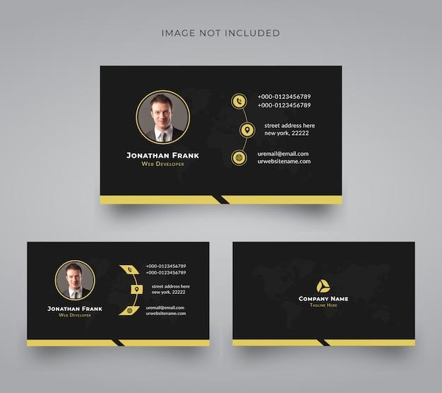 Modelo de cartão de negócios corporativo criativo