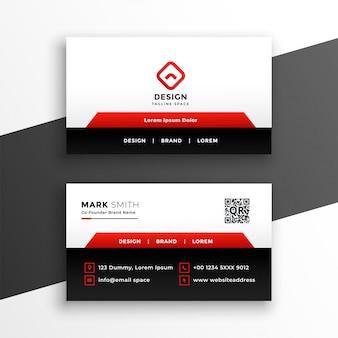 Modelo de cartão de negócios corporativo elegante vermelho