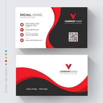 Modelo de cartão de negócios corporativo moderno
