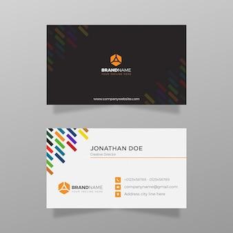 Modelo de cartão de negócios corporativo profissional design de modelo de vetor de cartão de visita colorido