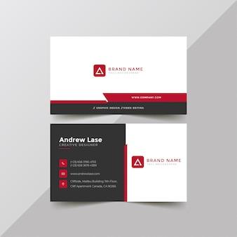 Modelo de cartão de negócios corporativo simples