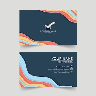 Modelo de cartão de negócios corporativo