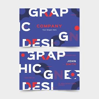 Modelo de cartão de negócios criativo designer gráfico colorido