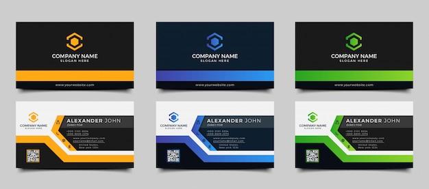 Modelo de cartão de negócios criativo e limpo moderno