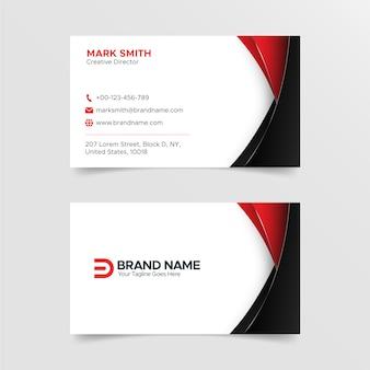 Modelo de cartão de negócios criativo moderno