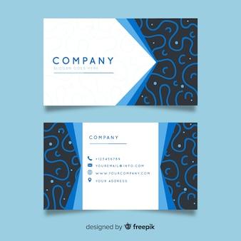 Modelo de cartão de negócios de formas curvas