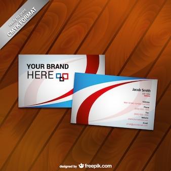 Modelo de cartão de negócios de impressão