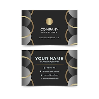 Modelo de cartão de negócios de luxo