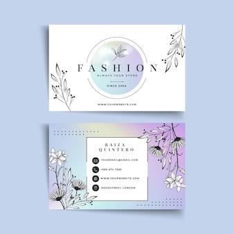 Modelo de cartão de negócios de mulher de negócios com elementos elegantes
